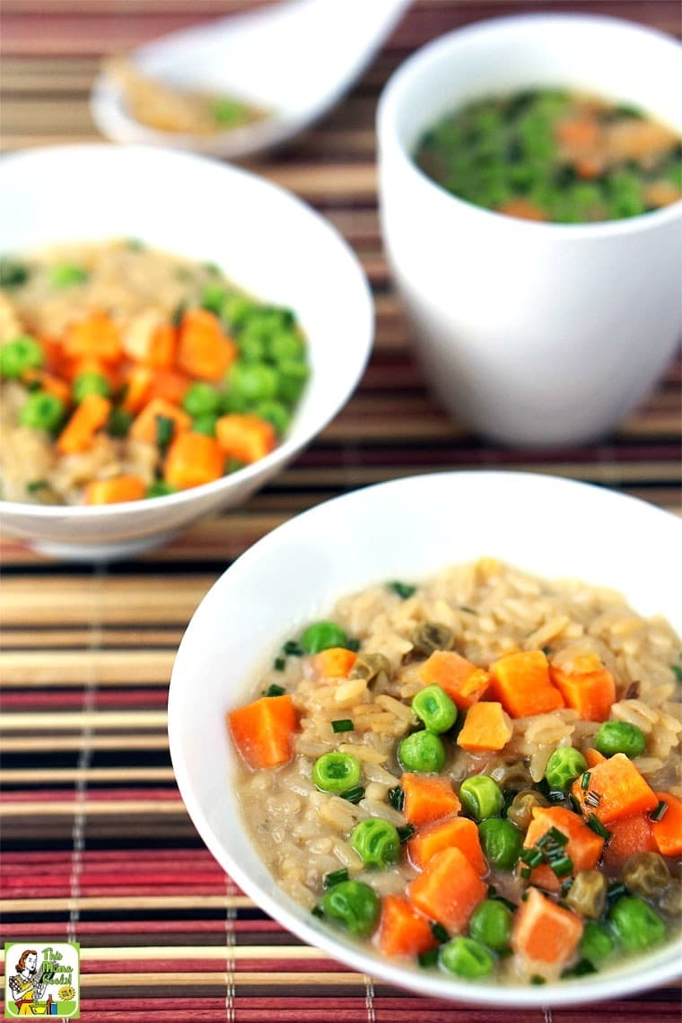 Quick & Easy Miso Soup with Rice & Vegetables - this miso soup recipe is so easy to make even the kids can fix themselves a bowl!