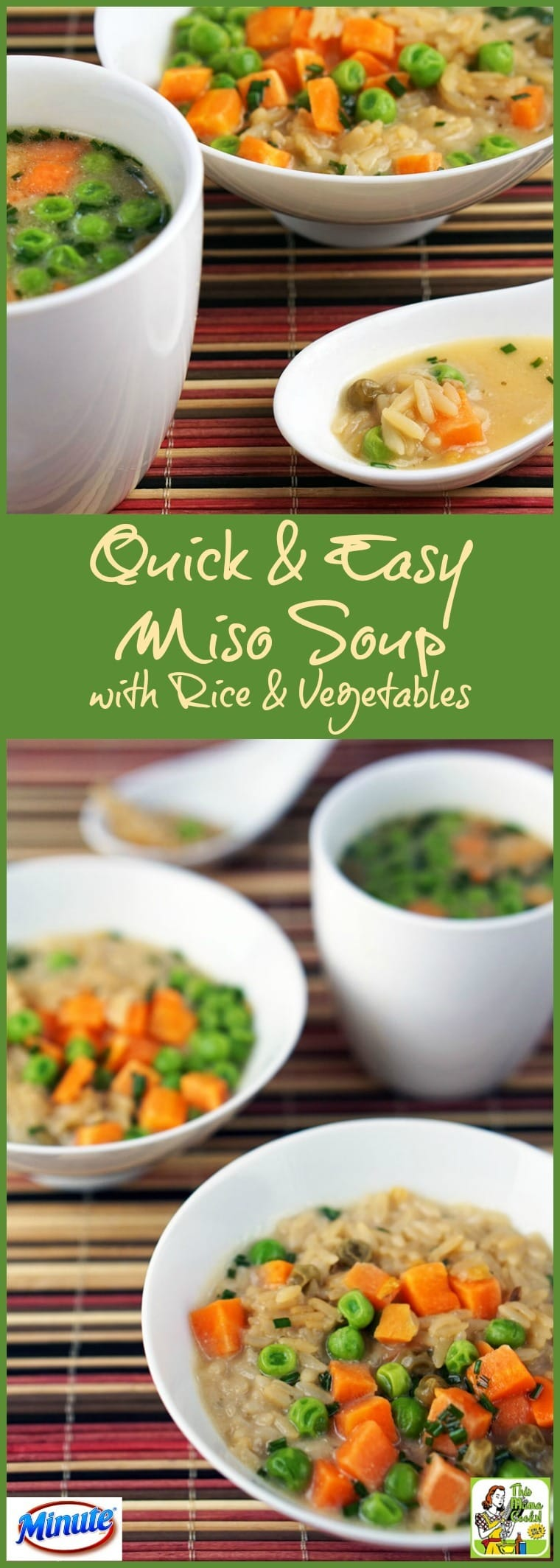 make, this Quick & Easy Miso Soup recipe made with rice and vegetables ...