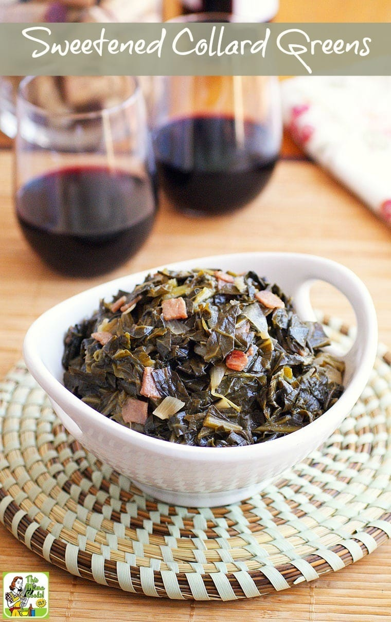 Love Southern cooking and collard greens? This Sweetened Collard Greens recipe will get your family asking for more. Click to get this easy and healthy recipe!