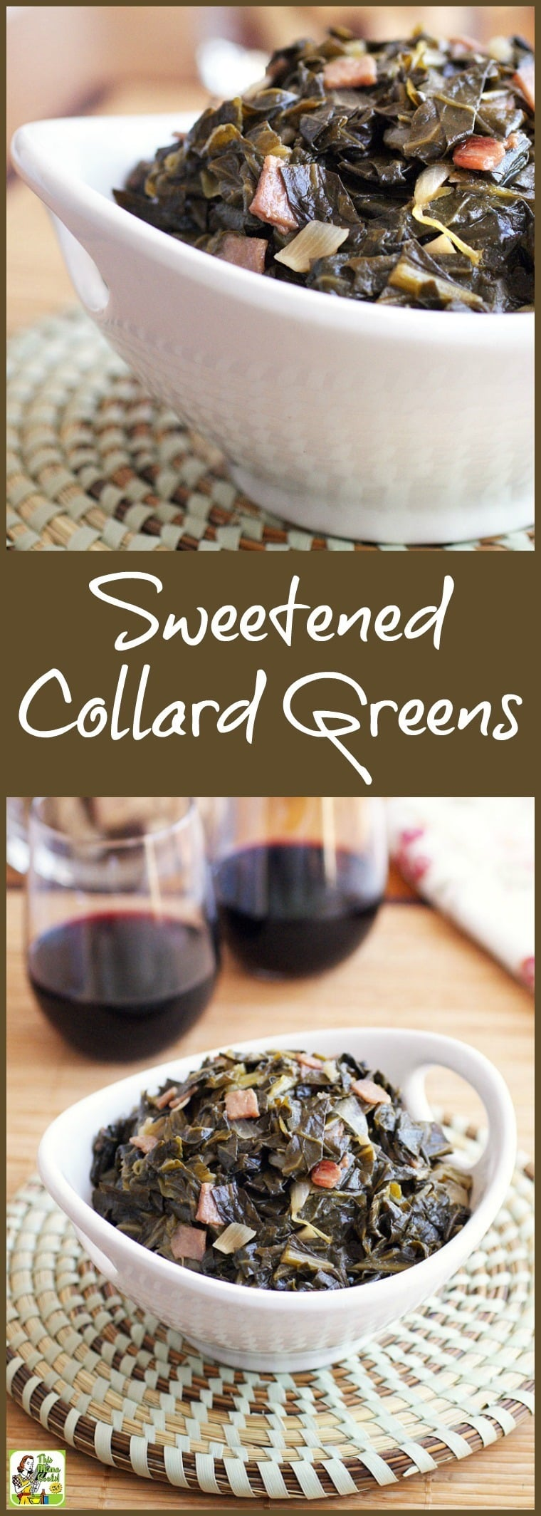 If you love Southern cooking and collard greens, then you need to try out this Sweetened Collard Greens recipe. Click to get this easy and healthy recipe!