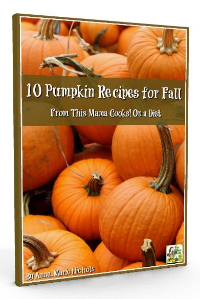 Click to get my free pumpkin cookbook of 10 Pumkin Recipes for Fall! Many of these pumpkin recipes are gluten free, dairy free, sugar free, and even vegan.