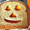 Jack-O-Lantern Cheese Sandwich for Halloween