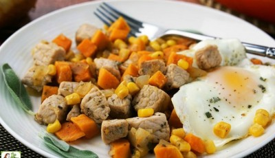 Sweet Potato Pork Hash