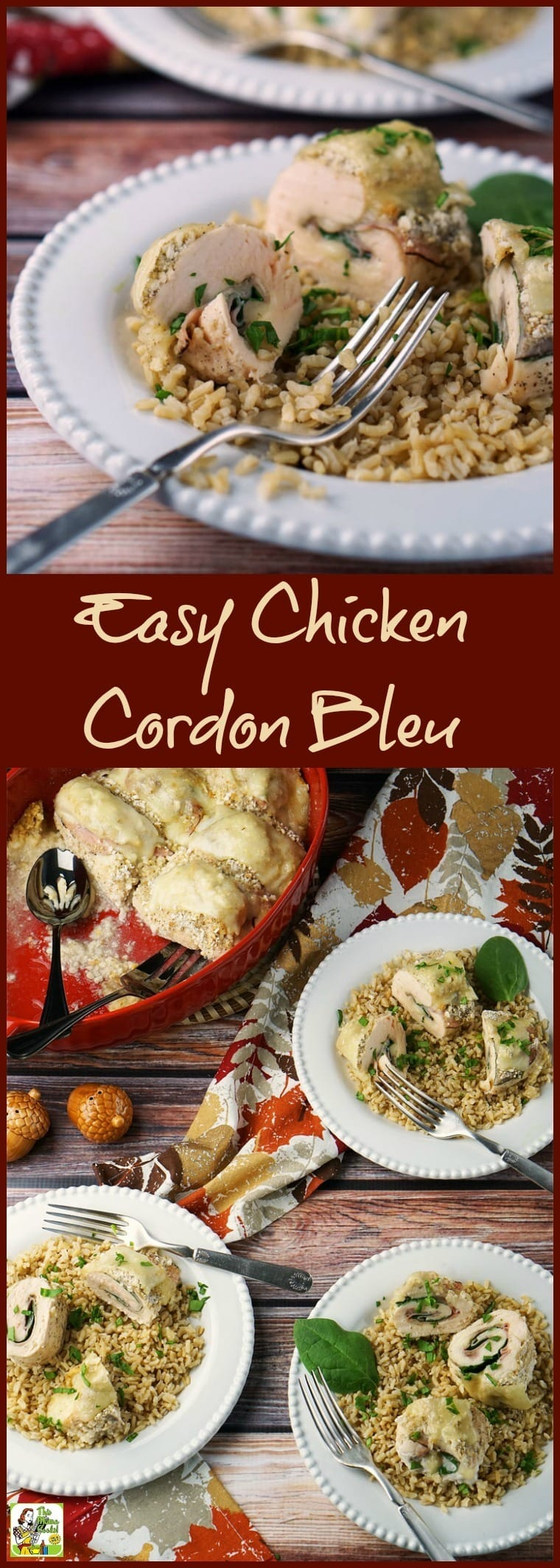 Making this Easy Chicken Cordon Bleu is quicker than you think! This easy one pot chicken recipe can be made gluten free. Click to get this easy chicken weeknight dinner recipe.