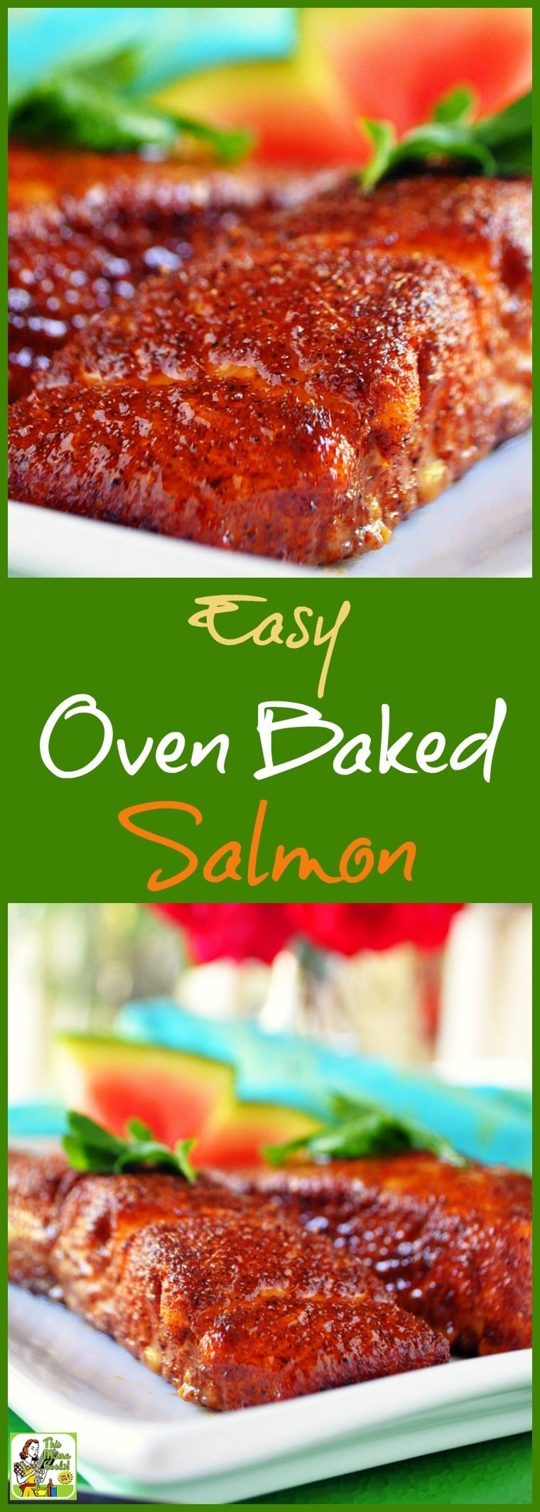 easy oven baked salmon this mama cooks on a diet. Black Bedroom Furniture Sets. Home Design Ideas