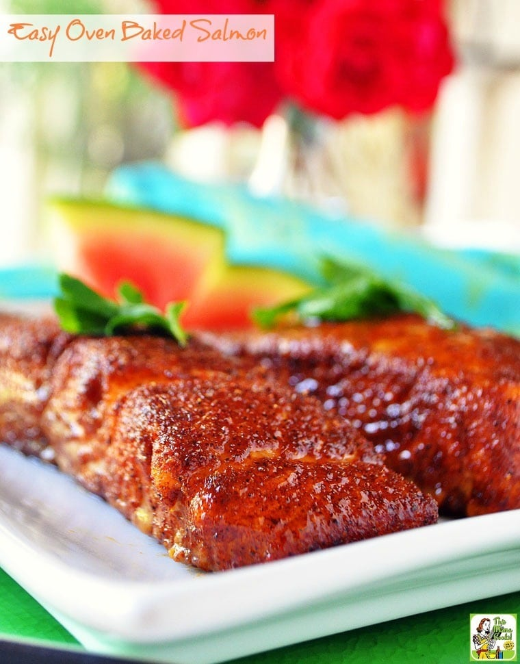 Easy oven baked salmon this mama cooks on a diet for Oven baked fish recipes