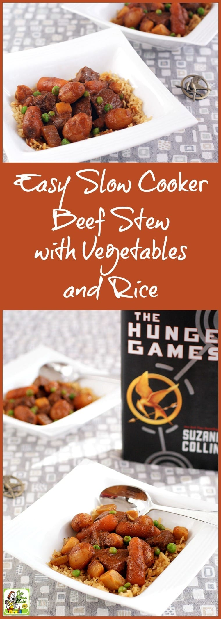 Based on The Hunger Games, this slow cooker beef stew recipe is easy to make. Click to get the Easy Slow Cooker Beef Stew with Vegetables and Rice recipe.