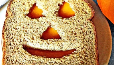 Jack-O-Lantern Cheese Sandwich Recipe