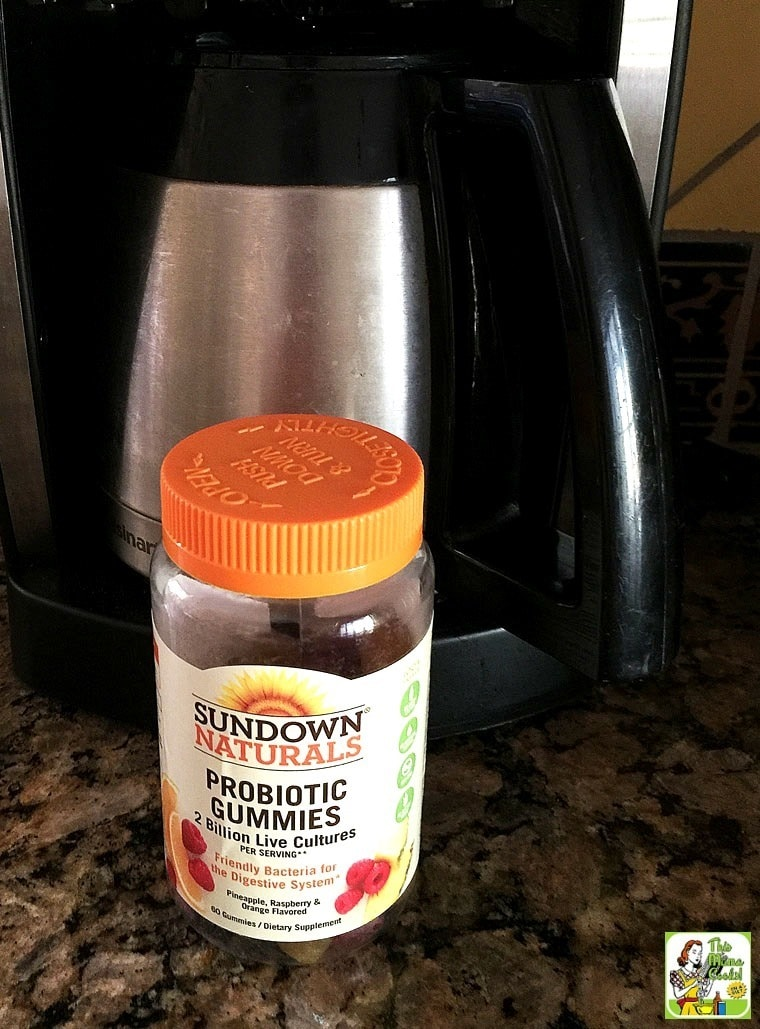 Place your probiotic gummies next to the coffee pot so you take them with breakfast. It's easy to maintain a healthy lifestyle with Sundown Naturals® gummy vitamins