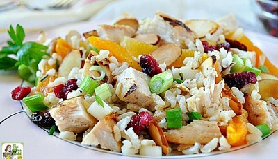 Looking for healthy Thanksgiving leftover recipes? Try Turkey Apricot Rice Salad!