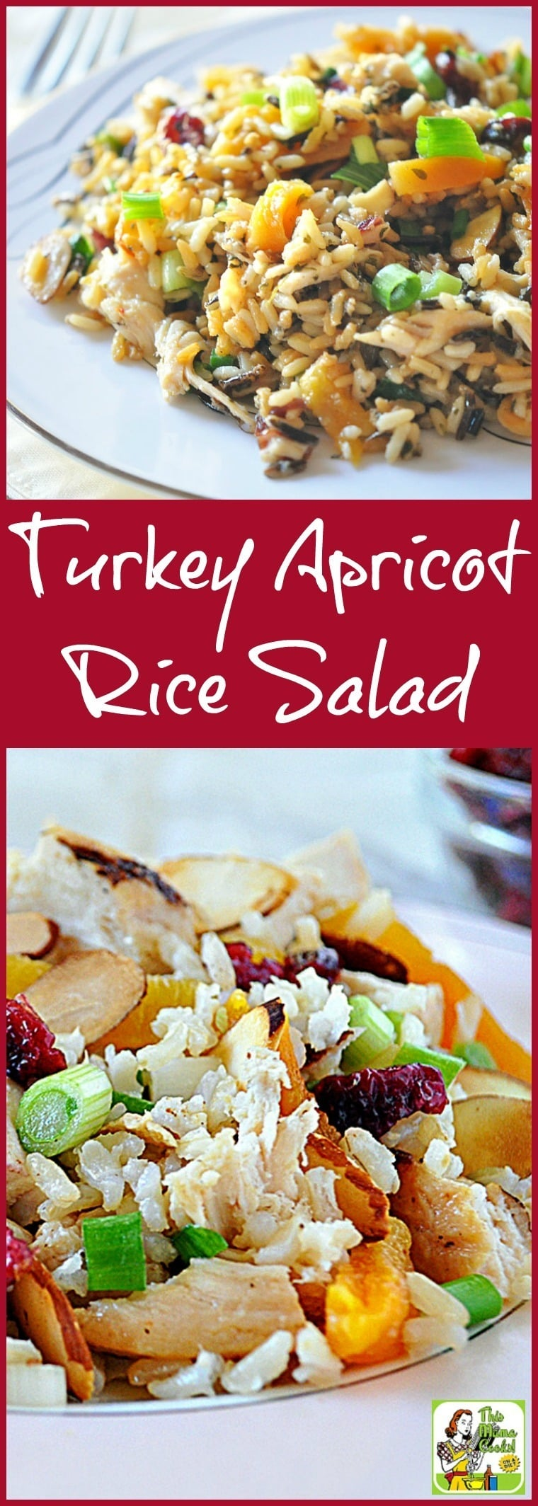 If you do Thanksgiving leftovers, you'll love easy Thanksgiving leftover recipes like this Turkey Apricot Rice Salad! It's a gluten free salad recipe that's a great way to use Thanksgiving leftovers. It's also diabetic friendly. #salad #turkey #thanksgiving #apricot #rice #diabeticfriendly #healthy #healthyrecipe #leftovers #thanksgivingleftovers