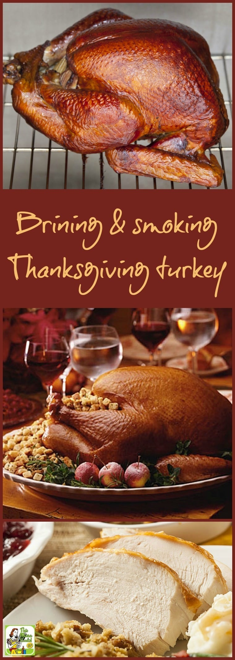 Want to learn an easy way how to brine and smoke your Thanksgiving turkey?  Click to get the easy brining and smoking recipe for Smoked Turkey with Maple-Herb Brine. It's gluten free and delicious to make in your smoker, grill or oven. #thanksgiving #turkey #brining #smoking #grilling #glutenfree