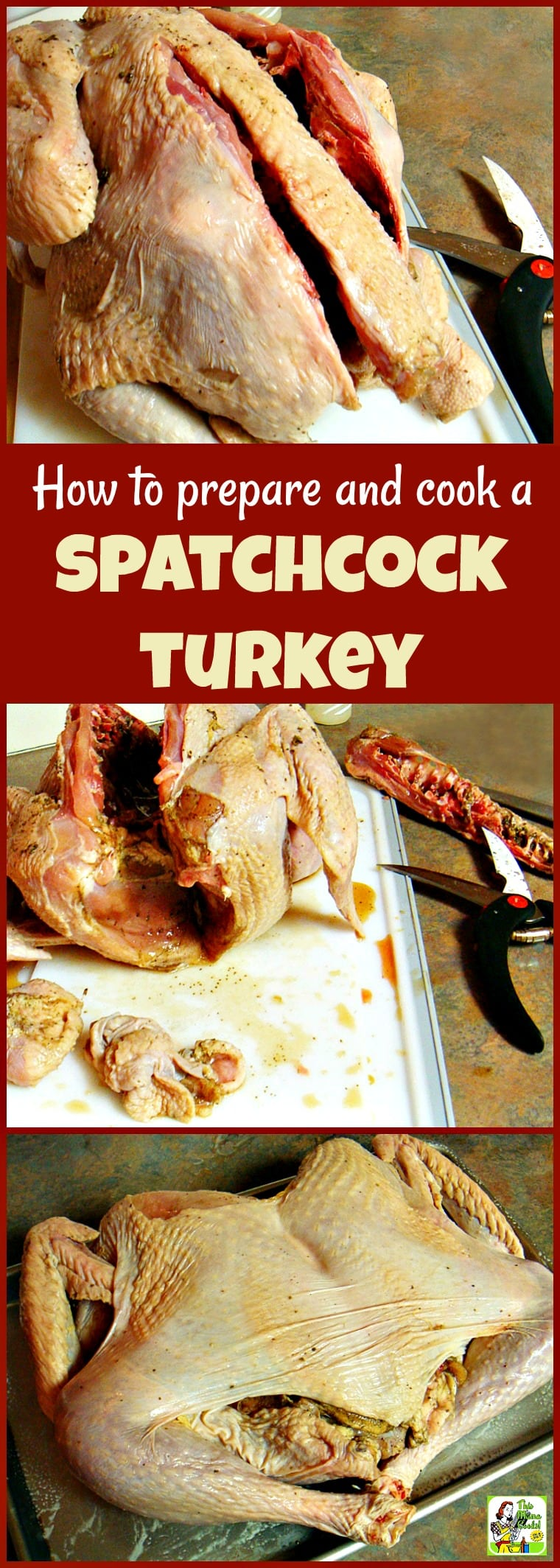 If you want to shorten turkey cooking time in the oven or in the smoker grill, spatchcock or butterfly your turkey! Learn how to prepare and cook a spatchcocked turkey for Thanksgiving, Christmas, Easter, or BBQ cookouts. #turkey #thanksgiving #thanksgivingrecipes #Christmas #Christmasrecipes #Easter #Easterrecipes #grill #grilling #grillrecipes #grillingrecipes #smoking #roasting #recipe #recipeoftheday #glutenfree #christmas #bbq