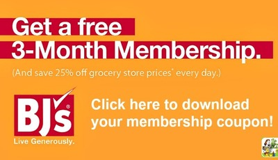 Get big savings with a FREE 90-Day BJ's Wholesale Club Membership