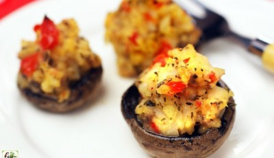 Gluten Free Crab Stuffed Mushrooms Appetizers