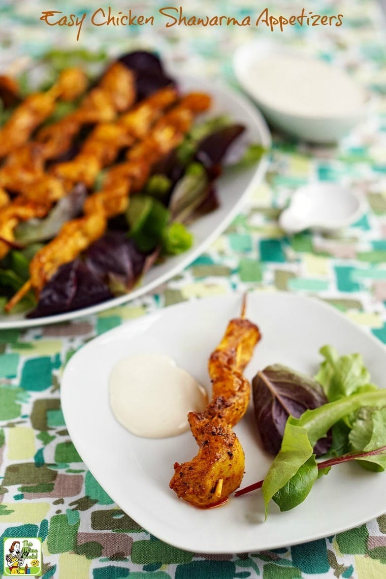 Looking for something different for your football watching party? Try Easy Chicken Shawarma Appetizers with Dipping Sauce! Click to get this easy appetizer recipe.