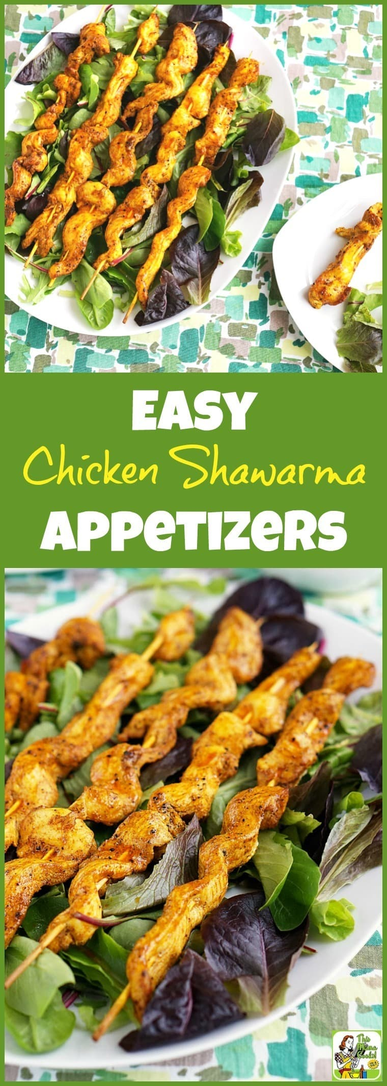 Looking for something different to serve at your party? Try Easy Chicken Shawarma Appetizers with Dipping Sauce! Click to get this easy chicken appetizer recipe. It's gluten free and healthy!