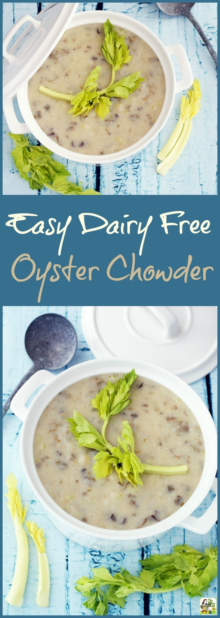 Looking for a healthy oyster chowder recipe that's also gluten free and dairy free? Click to get this recipe for Easy Dairy Free Oyster Chowder.
