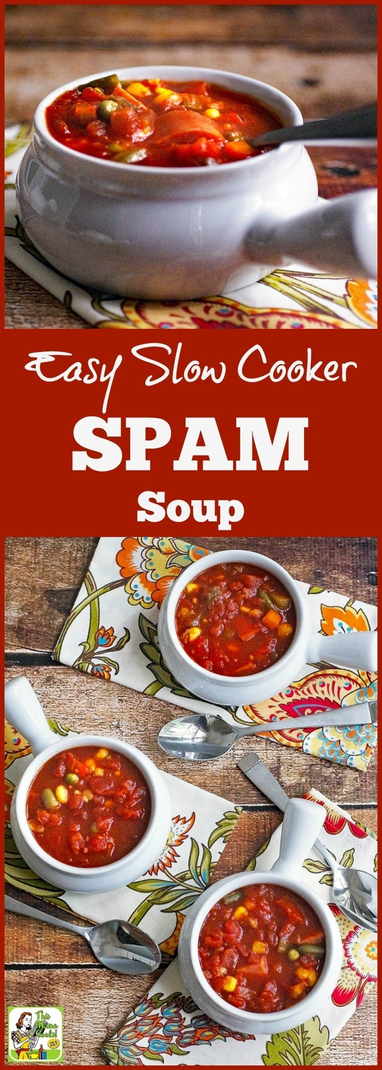 Looking for an easy to make Crock-Pot soup recipe? Learn how to open a few cans to make Easy Slow Cooker SPAM Soup. Click to get this delicous, gluten free, and healthy soup recipe.