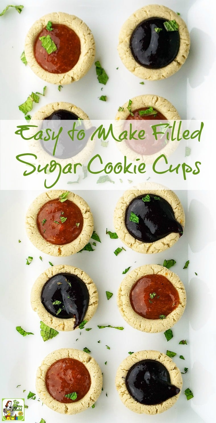 You'll love these Easy to Make Filled Sugar Cookie Cups. Click to get this gluten free cookie recipe.
