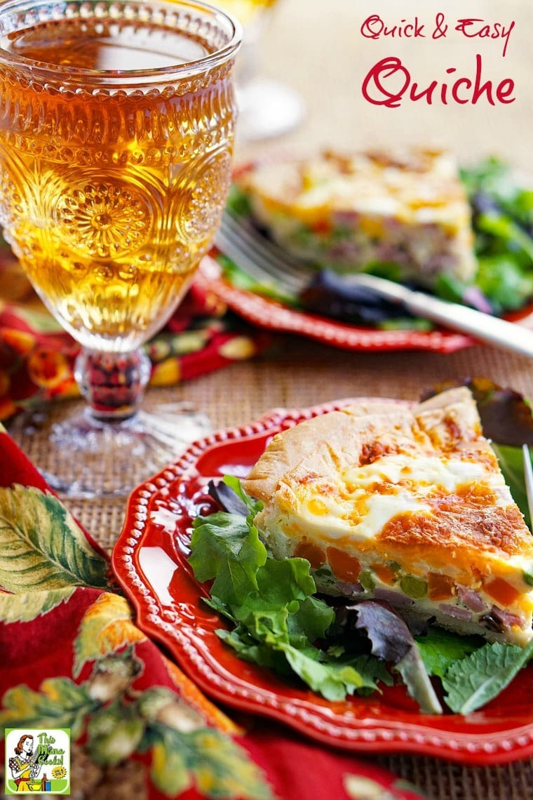 Make a Quick Quiche recipe everyone will love! Quick and easy quiche can be vegetarian or gluten free.