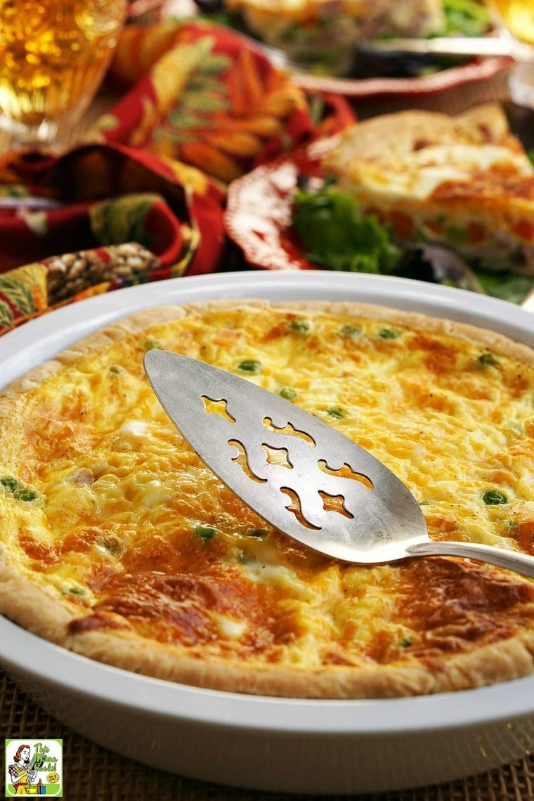 This Quick & Easy Quiche recipe can be made with leftovers or for ...