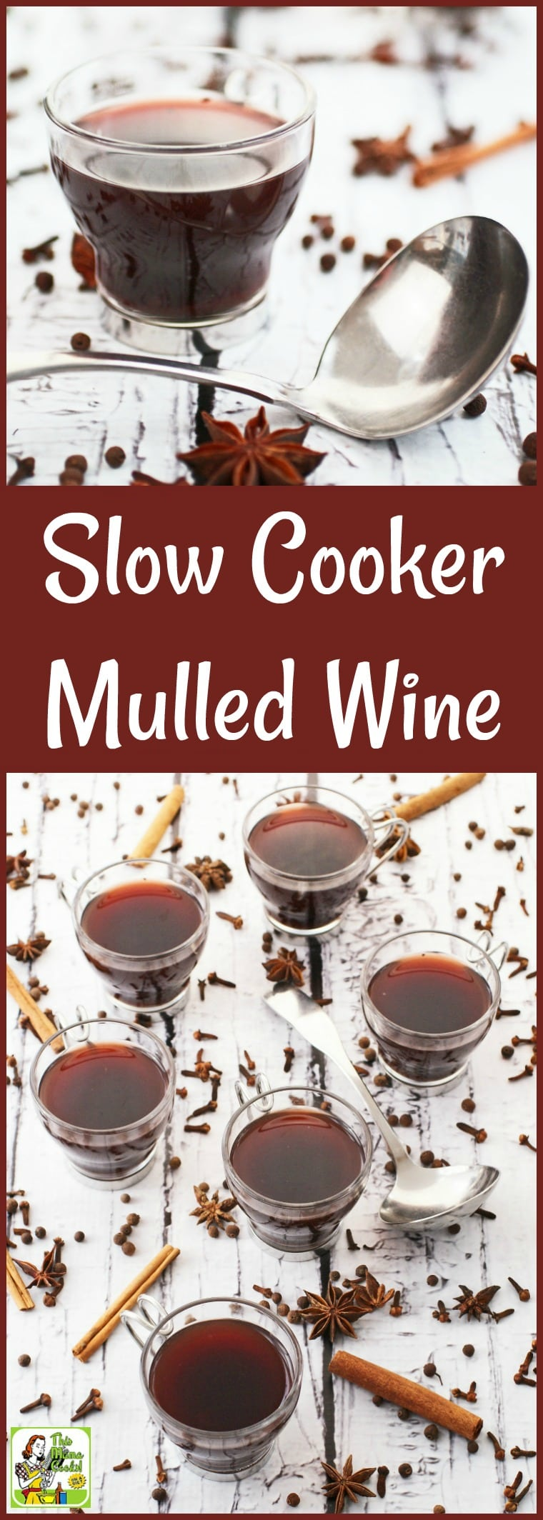 Make Slow Cooker Mulled Wine for your holiday parties. This easy to make holiday party cocktail can be made and served in your Crock-Pot. Your guests will love warming up with this delicious holiday drink recipe. #slowcooker #crockpot #wine #cocktails #entertaining #cocktail #drinks #drink