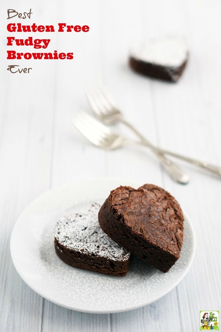 Looking for an amazing gluten free fudgy brownie recipe? Click to get this Best Gluten Free Fudgy Brownies Ever recipe! You'll love this gluten free chocolate dessert treat.