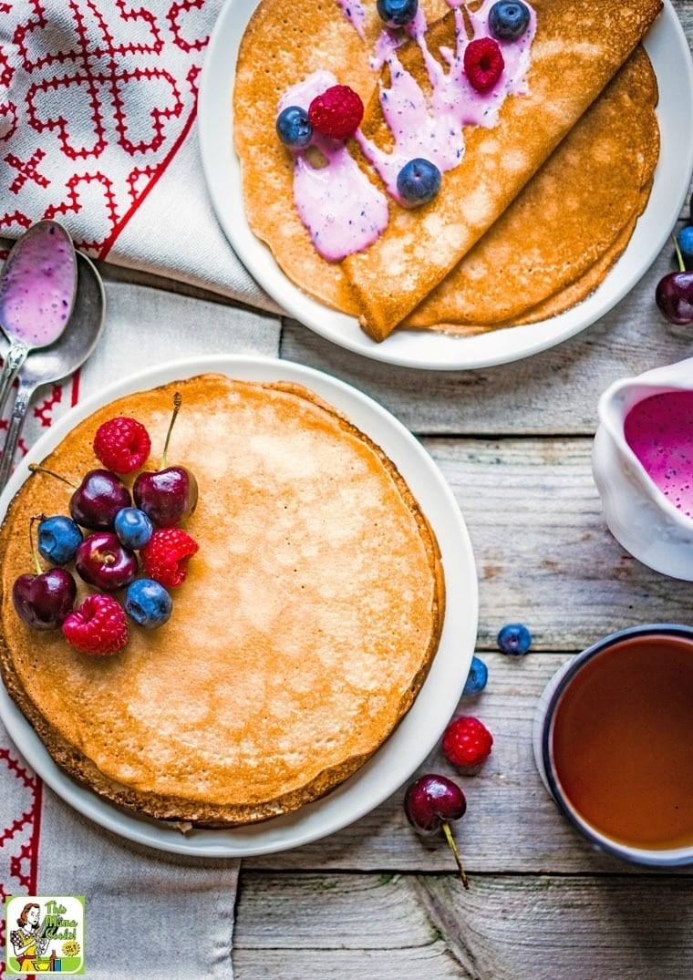 This Easy Gluten Free Crepes with Rice Flour recipe is terrific for breakfast, brinner, or dessert.