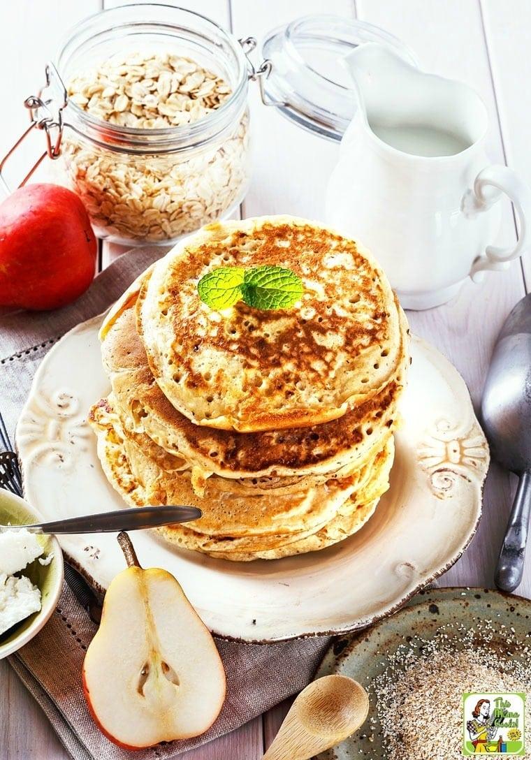 These Greek yogurt protein pancakes are easy to make.