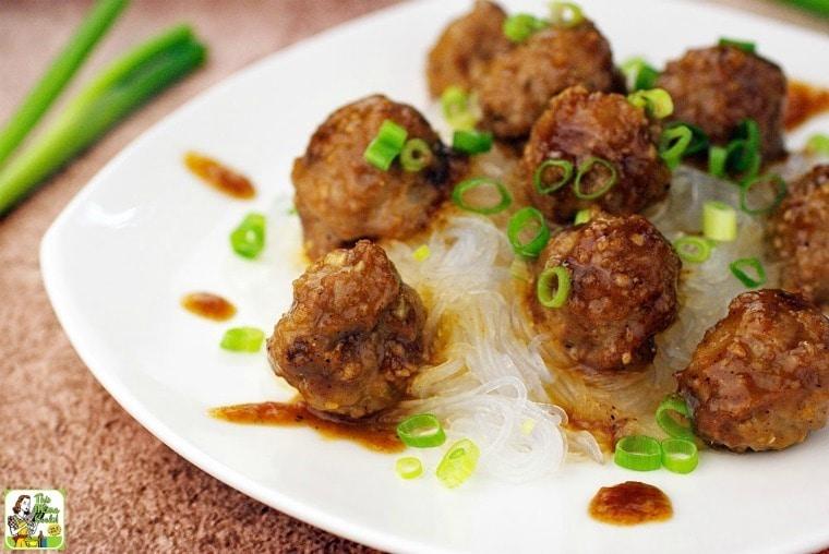 Gluten Free Asian Meatballs with Hoisin Sauce