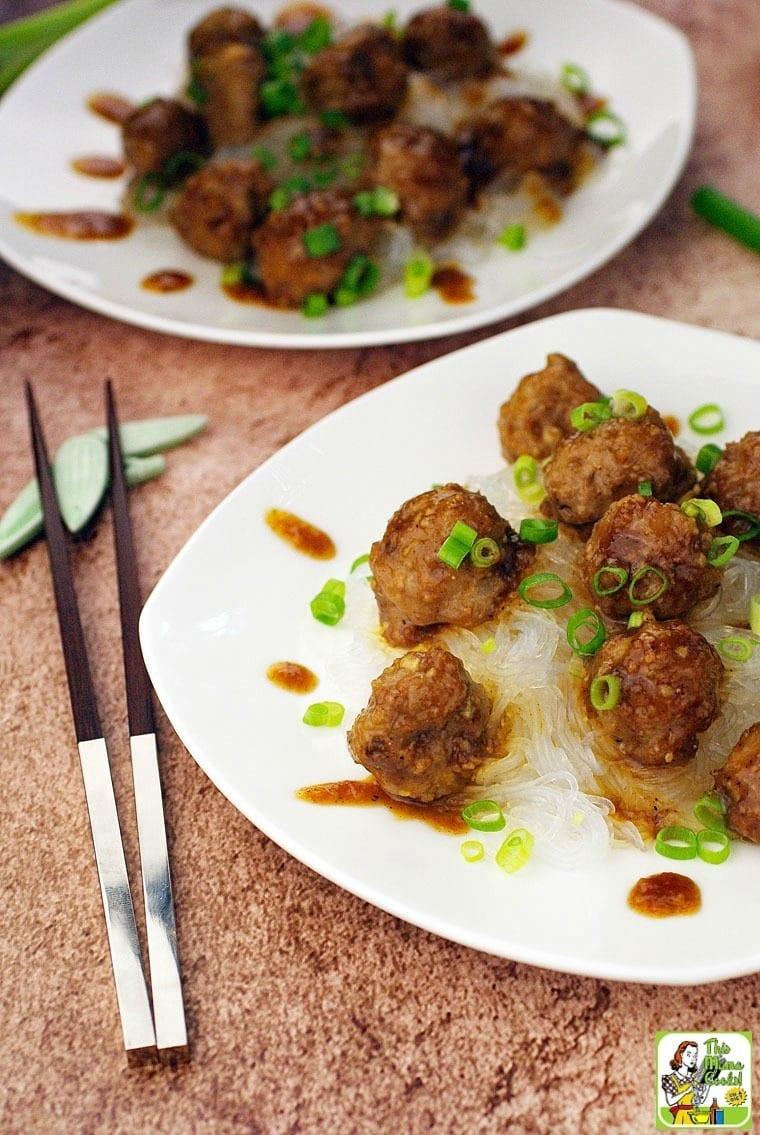 You'll love these hoisin glazed meatballs recipe - Gluten Free Asian Meatballs with Hoisin Sauce
