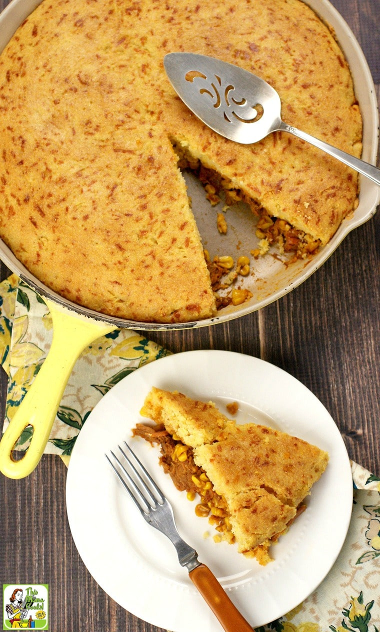 Need some quick and easy dinner recipes? One skillet dinners like Pulled Pork & Cornbread Skillet take under an hour to make.