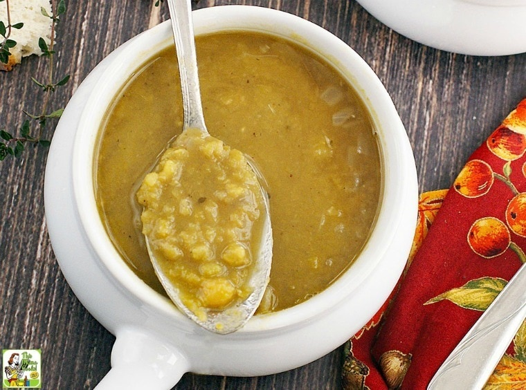 A Simple & Healthy Split Pea Soup recipe for busy weeknights