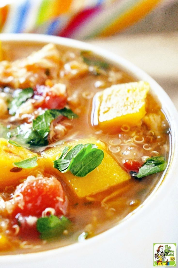 Easy Chicken Stew Recipe with Roasted Butternut Squash and Quinoa