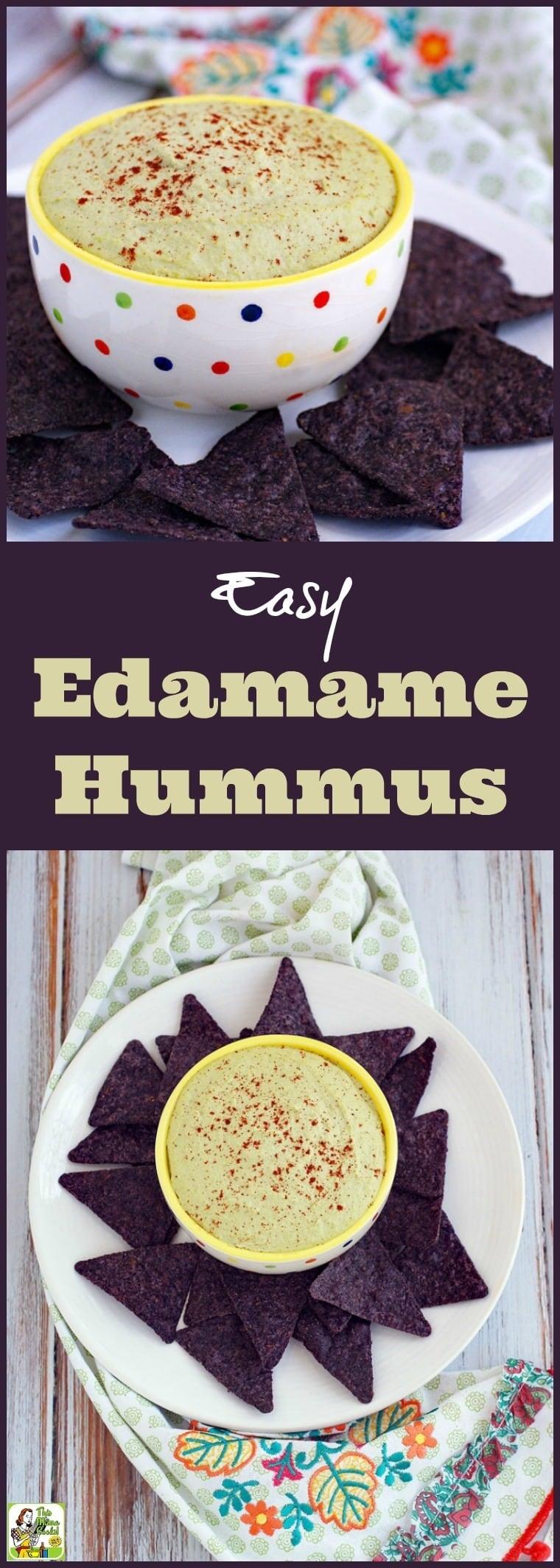 Easy Edamame Hummus Recipe