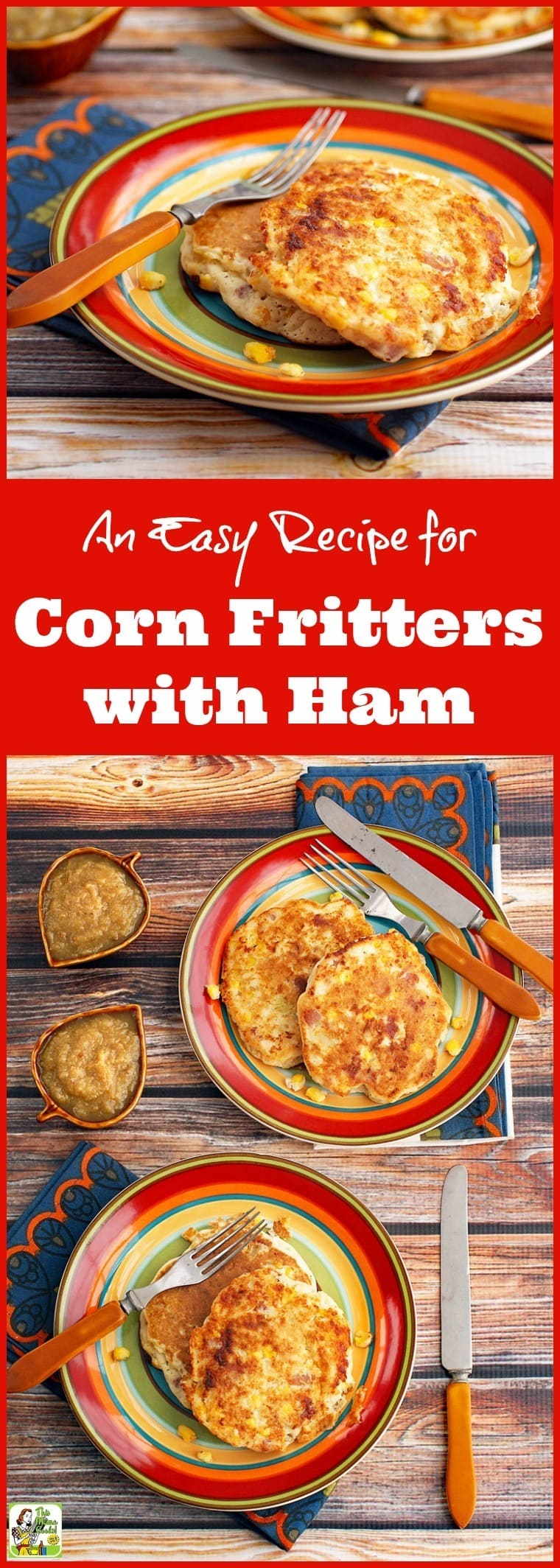 An Easy Recipe for Corn Fritters with Ham for Pancake Day! Click to get this gluten free and dairy free pancake breakfast and brinner recipe. Don't celebrate Shrove Tuesday without them!