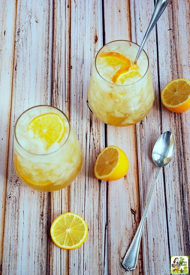 Got lemons? Make this Meyer lemon shrub drink recipe for cocktails and mocktails!