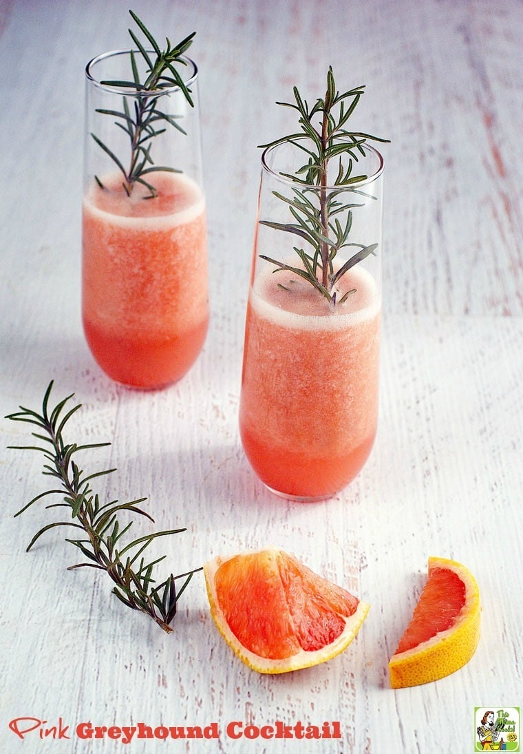 Make this Pink Greyhound Cocktail recipe for your next party. Click to get this easy grapefruit cocktail recipe.