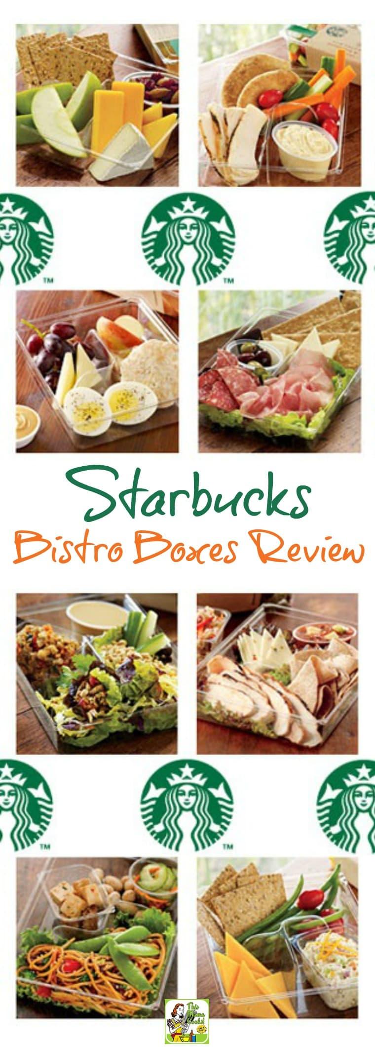 Starbucks Bistro Boxes Review. Includes a breakdown of Starbucks bistro box nutrition.