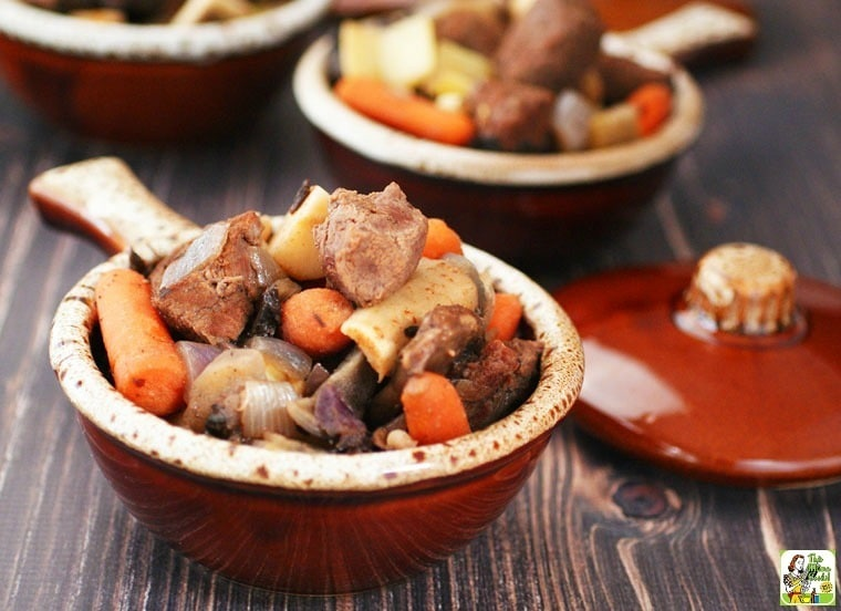 Slow Cooker Juniper Venison Stew Recipe.