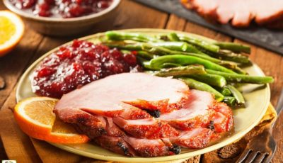 Crockpot Spiral Ham with Beer and Chutney Glaze