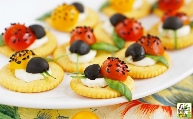 Caprese Ladybugs Appetizer Recipe.