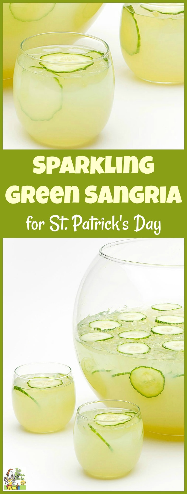 Gluten free or looking for an alternative to heavy Guinness or yucky green beer? Try this refreshing gluten free Sparkling Green Sangria recipe for St. Patrick's Day. It's a skinny green cocktail alternative! Your party guests will love this green St. Patrick's Day drink recipe! #stpatricksday #green #drinking #drinks #drinksrecipe #cocktails #sangria #skinnyrecipes #healthydrinks #healthydrinksrecipe #glutenfree
