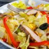 How to Make an Easy Chicken Fajita Salad. This recipe for chicken fajita salad can be made into fajita wraps, too. Click to get this healthy and easy salad recipe. It's naturally gluten free.