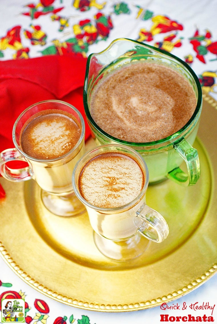This Quick & Healthy Horchata is easy to make with ready made rice milk and stevia.