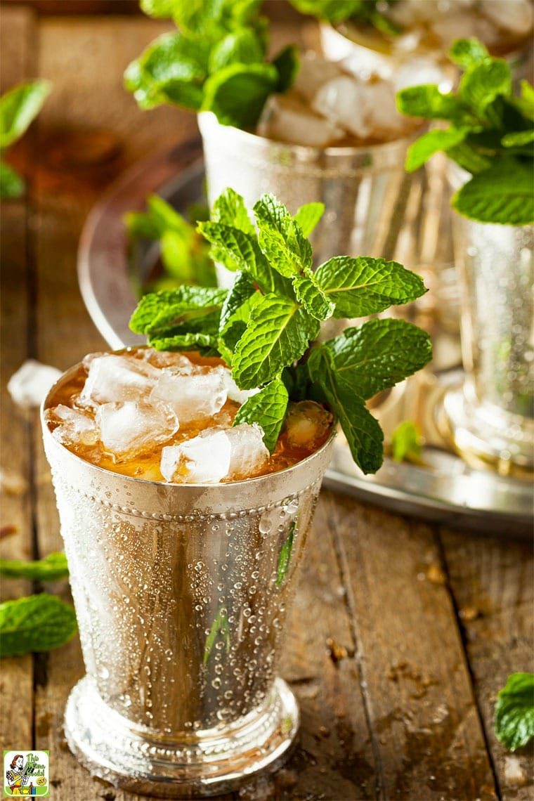 The Best Mint Julep Recipe with Ginger and Lemon
