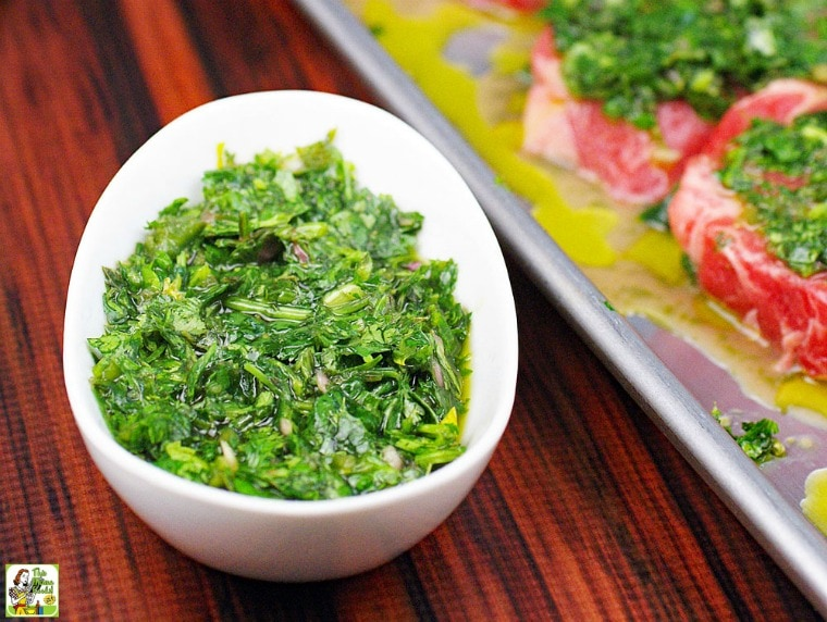 Chimichurri Marinade and Sauce Recipe.