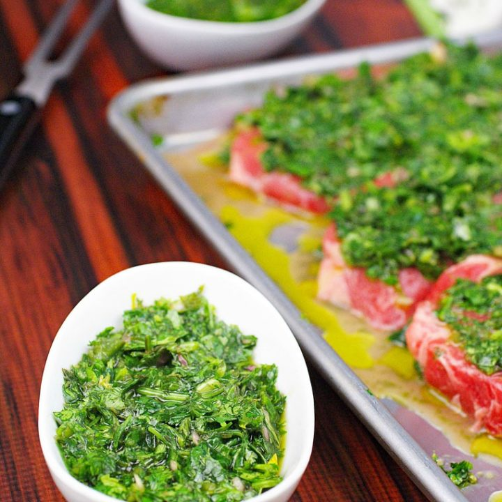 Chimichurri Marinade And Sauce Recipe This Mama Cooks On A Diet