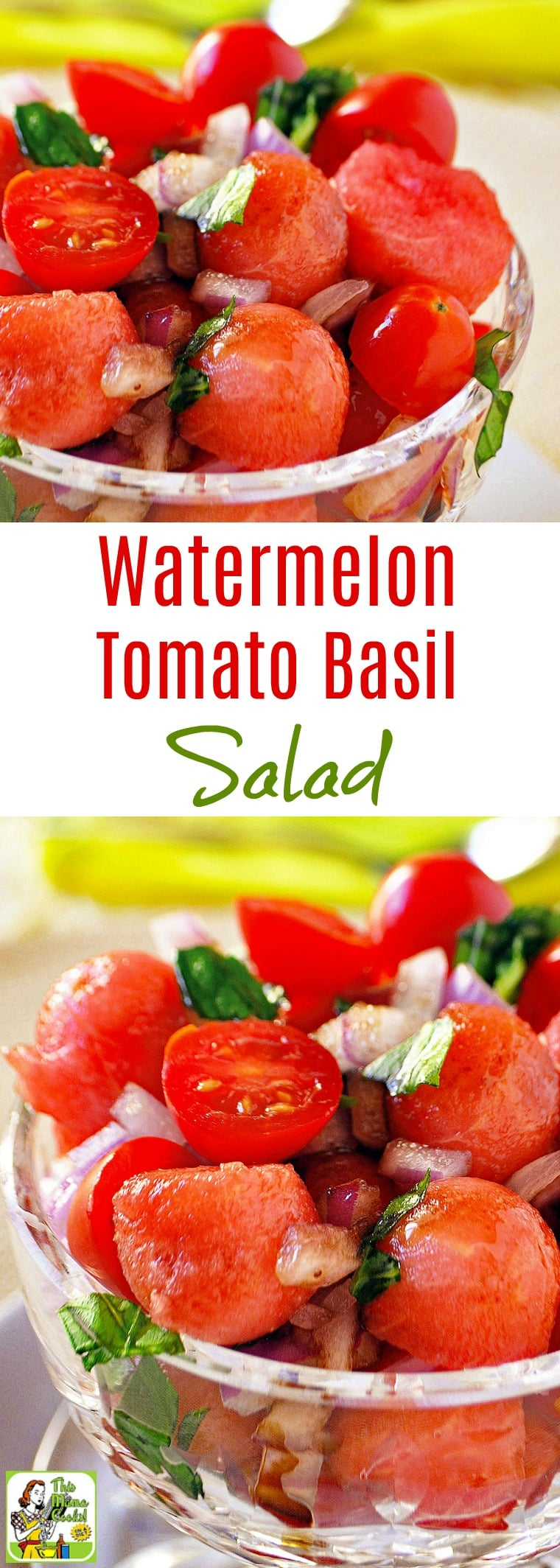 This Easy Watermelon Tomato Basil Salad Recipe Is Ideal For Summer Cookouts Or Potlucks Click